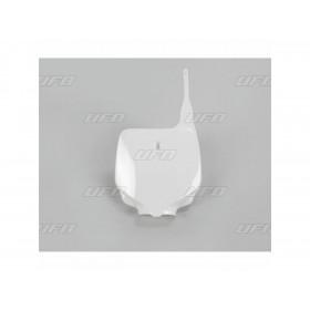 Plaque numéro frontale UFO blanc Kawasaki