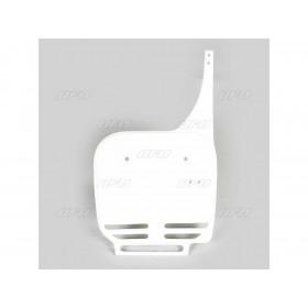 Plaque numéro frontale UFO blanc Kawasaki KX60