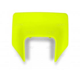 Plaque numéro frontale UFO Husqvarna jaune fluo