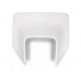 Plaque numéro frontale UFO Husqvarna blanc