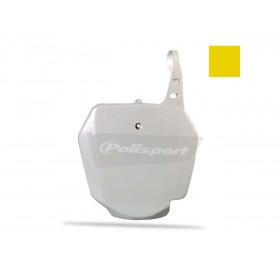 Plaque numéro frontale POLISPORT jaune Suzuki RM85