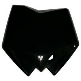 Plaque numéro frontale RACETECH noir Husqvarna