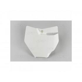 Plaque numéro frontale UFO blanc KTM SX85
