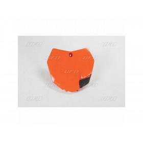 Plaque numéro frontale UFO orange KTM