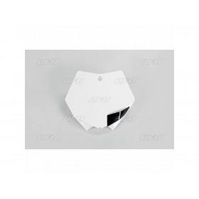 Plaque numéro frontale UFO blanc KTM