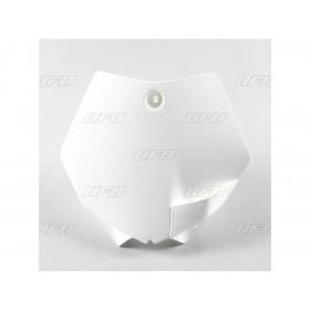 Plaque numéro frontale UFO blanc KTM SX65