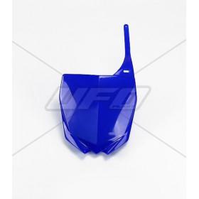 Plaque numéro frontale UFO bleu Yamaha YZ/YZF