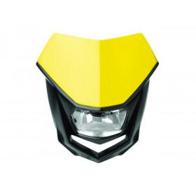 Plaque phare POLISPORT Halo jaune/noir