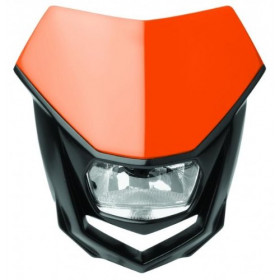 Plaque phare POLISPORT Halo orange/noir