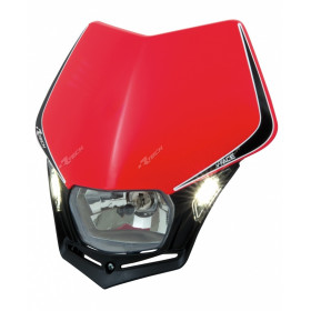 Plaque phare RACETECH V-Face Led rouge