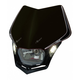 Plaque phare RACETECH V-Face Led noir