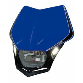 Plaque phare RACETECH V-Face Led bleu
