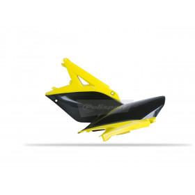 Plaques latérales POLISPORT couleur origine (10-12) jaune/noir Suzuki RM-Z250