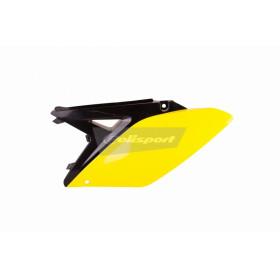 Plaques latérales POLISPORT couleur origine (14-15) noir/jaune  Suzuki RM-Z250