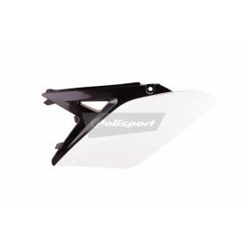 Plaques latérales POLISPORT couleur origine (2013) noir/blanc Suzuki RM-Z250