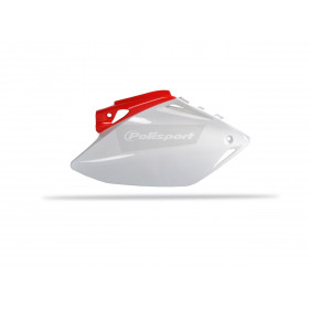 Plaques latérales POLISPORT couleur origine rouge/blanc Honda CRF450R