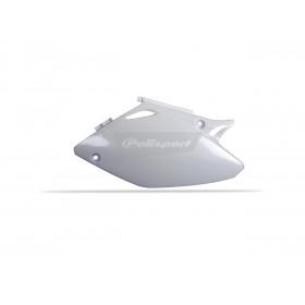 Plaques latérales POLISPORT blanc Honda CRF450R