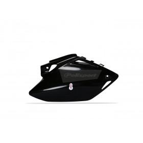 Plaques latérales POLISPORT noir Honda CRF450R