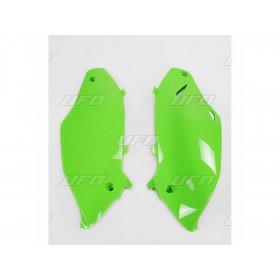 Plaques latérales UFO vert KX Kawasaki KX250F/450F