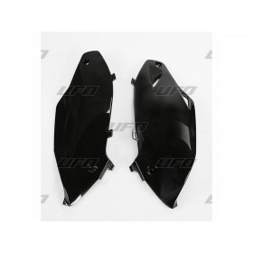 Plaques latérales UFO noir Kawasaki KX250F/450F