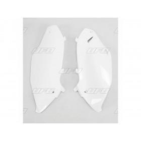 Plaques latérales UFO blanc Kawasaki KX250F/450F
