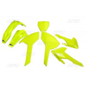 Plaques latérales UFO jaune fluo Honda CRF450R/RX