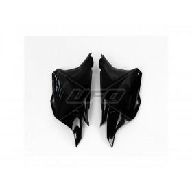 Plaques latérales UFO noir Kawasaki KX85