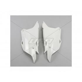 Plaques latérales UFO blanc Kawasaki KX85