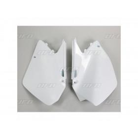 Plaques latérales UFO blanc Suzuki RM125/250