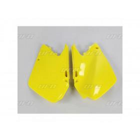 Plaques latérales UFO jaune Suzuki RM125/250