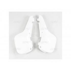 Plaques latérales UFO blanc Suzuki RM60