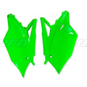Plaques latérales UFO vert fluo Kawasaki KX450F