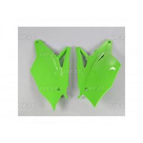 Plaques latérales UFO vert Kawasaki KX450F