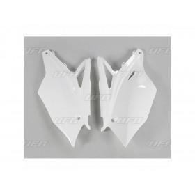Plaques latérales UFO blanc Kawasaki KX450F