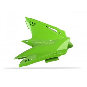 Plaques latérales POLISPORT vert Kawasaki KX250F