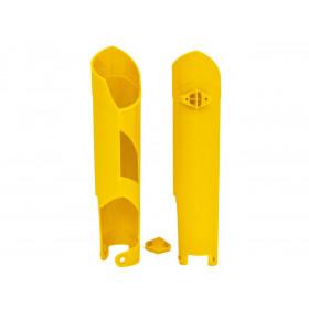 Protections de fourche RACETECH jaune Husqvarna TC/FC 125 à 450