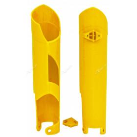 Protections de fourche RACETECH jaunes Husqvarna FC/FE 250/350/450