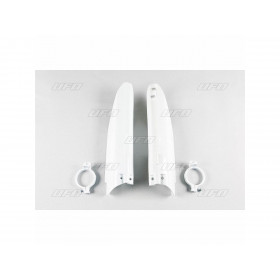 Protections de fourche UFO blanc Suzuki RM125/250