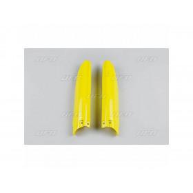 Protections de fourche UFO jaune Suzuki