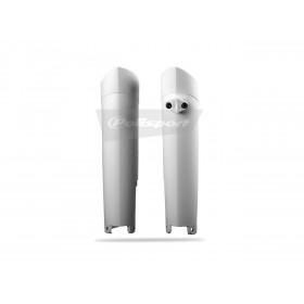 Protections de fourche POLISPORT couleur origine (11-14) blanc KTM SX/SX-F