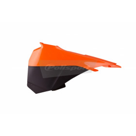 Caches boîte à air POLISPORT couleur origine 13-14 orange/noir KTM SX85