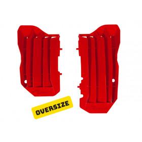 Cache radiateur grande capacité RACETECH rouge Honda CRF450R/450RX