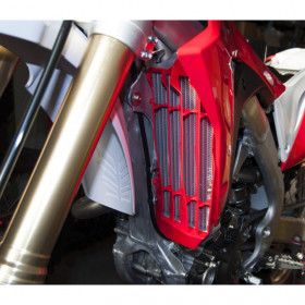 Cache radiateur grande capacité RACETECH blanc Honda CRF450R/450RX