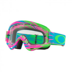 Masque OAKLEY XS O Frame Highvoltage Pink/Blue écran transparent