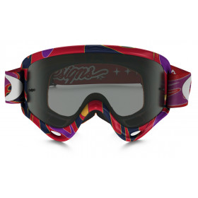 Masque OAKLEY XS O Frame Troy Lee Designs Reflection Orange/Purple écran Dark grey
