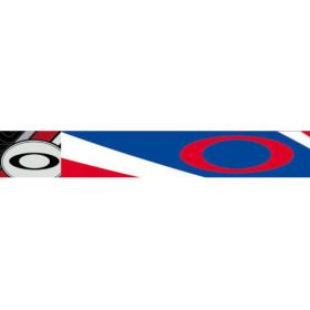Masque OAKLEY XS O Frame Heritage Racer bleu écran transparent