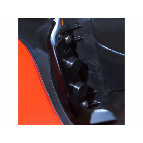 Protection de butée de direction R&G RACING noir Ducati Panigale V4