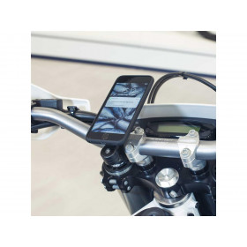 Pack complet SP CONNECT Moto Bundle fixé sur guidon Samsung S9