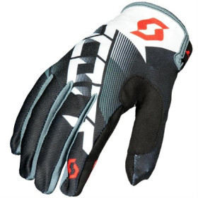 GLOVE 350 DIRT BLACK/WHITE S