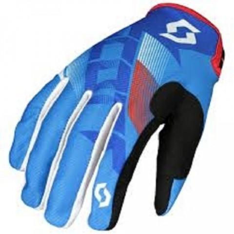 GLOVE 350 DIRT BLUE/WHITE S